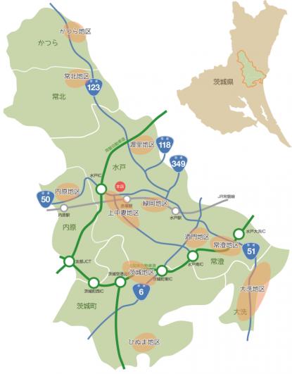 JA水戸店舗マップ
