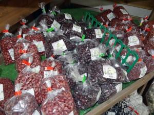 多種類な豆をそろえています