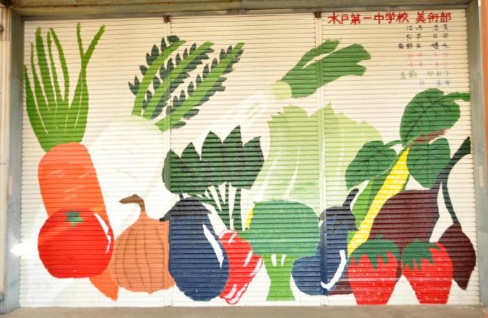 完成した野菜アート
