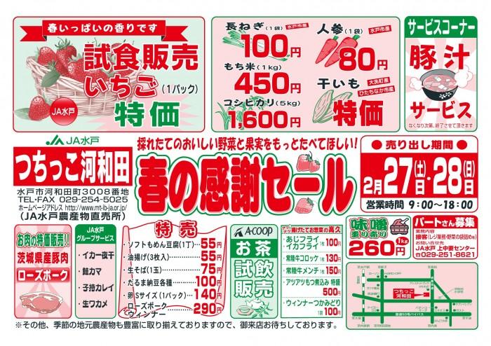 つちっこ河和田春の感謝セール