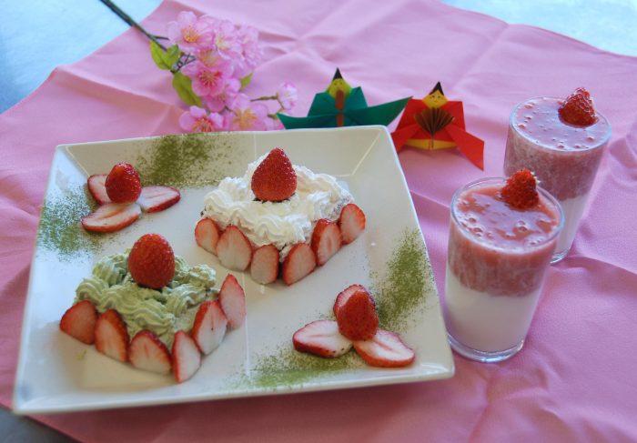 簡単ひな祭りケーキ&イチゴミルク